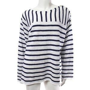 Eileen Fisher Striped Boxy Organic Cotton Sweater